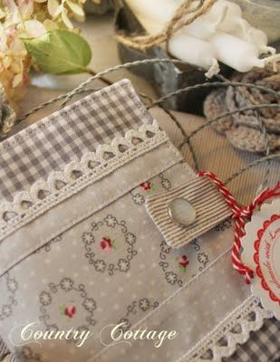 Country Cottage Garden: A little grey notebook cover