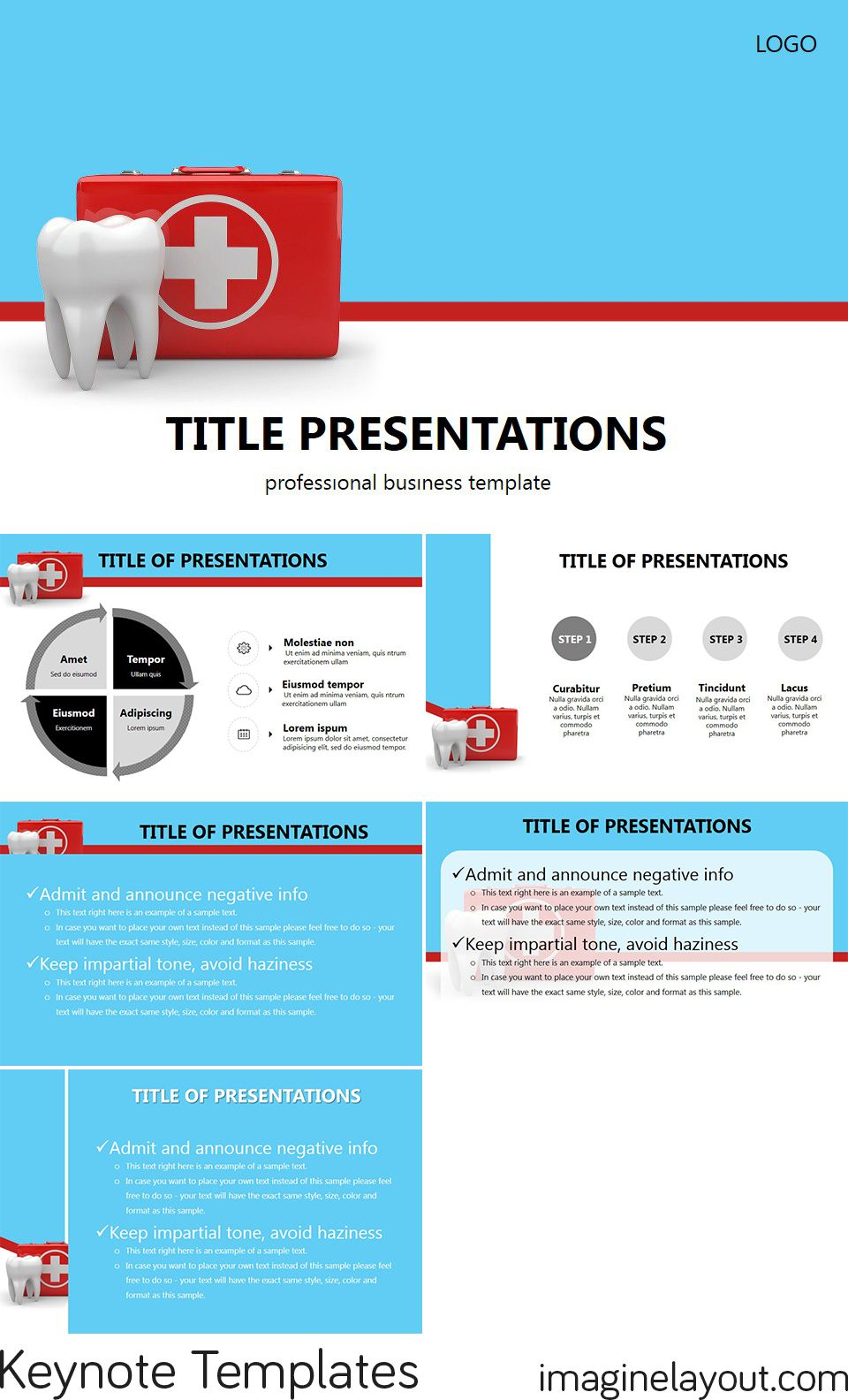 dental center keynote templates | keynote templates - themes, Modern powerpoint