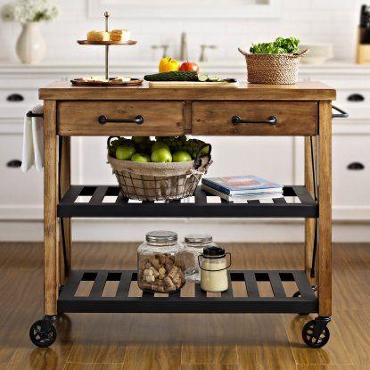 Crosley Roots Rack Industrial Kitchen Cart Hayneedle Cozinhas