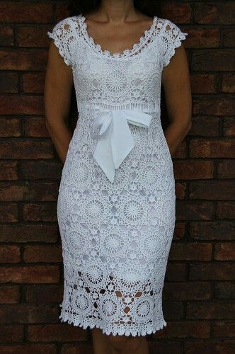 White Lace Summer Pencil Dress Kanyget Fashions