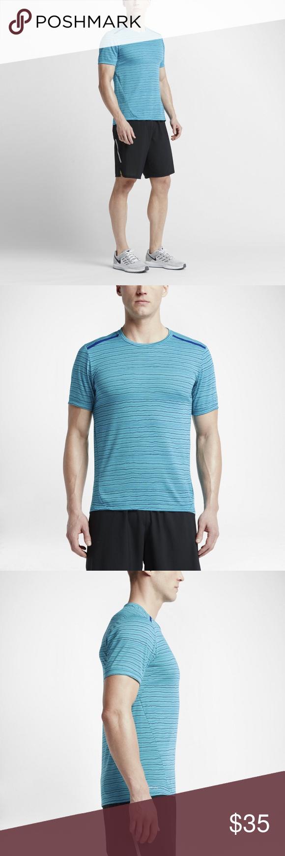 NIKE Dri FIT Cool Tailwind Men's Running Gym Shirt | Running
