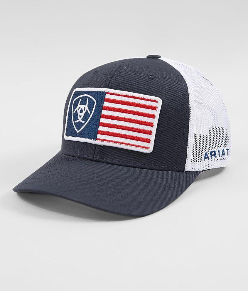 Ariat Usa Flag Trucker Hat Men S In 2021 Hats For Men Ariat Trucker Hat