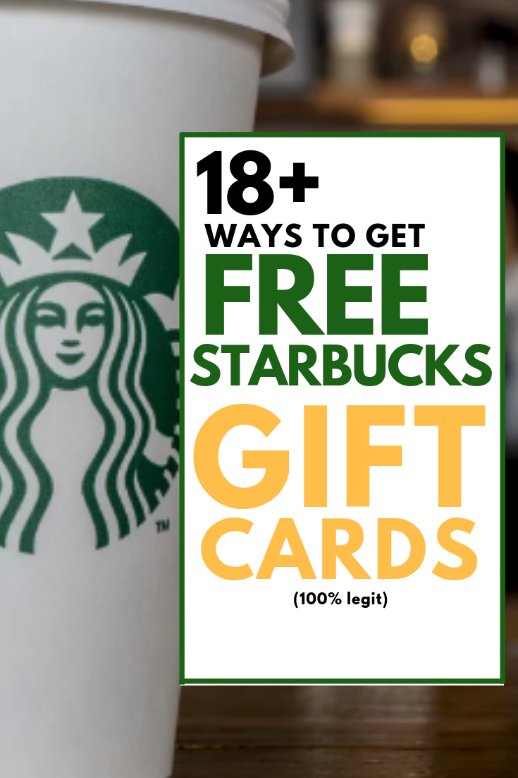 Let me share 18 ways to get a $5, $10, $25 or even $50 Starbucks gift card for FREE.