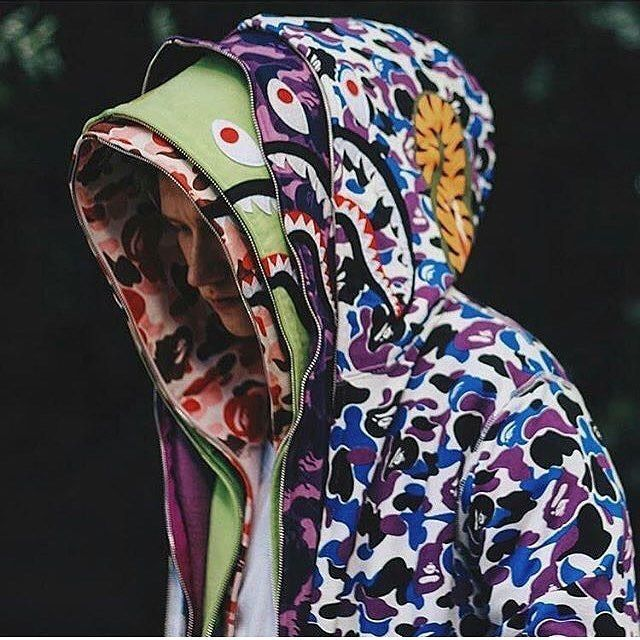 9c1d44133c40 bape shark hoodies fashion vogue