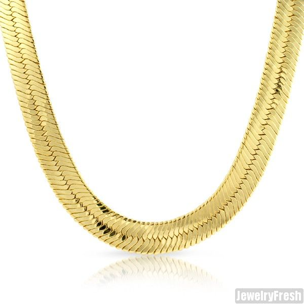 Herringbone Silver Plated 4mm Chain Solid Mens Womens Necklace Hip Hop Classic