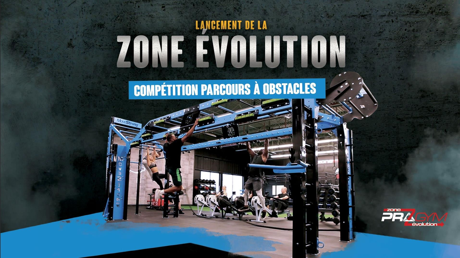 Ninja warrior obstacle course fitness challenge at pro gym montreal
