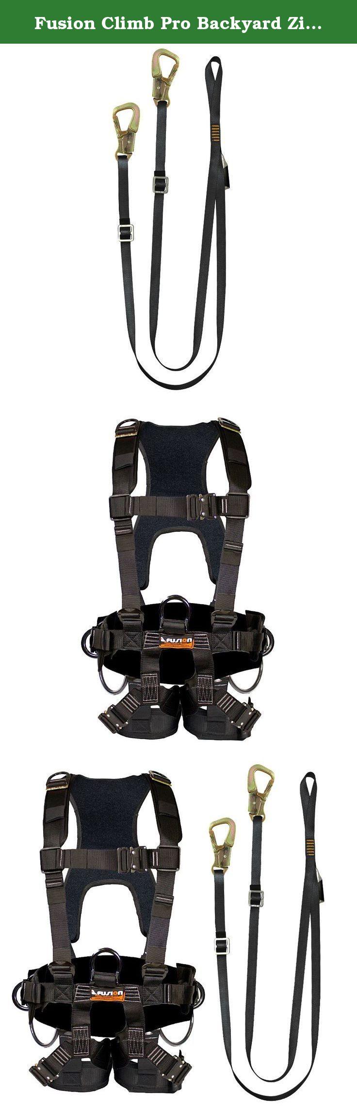 fusion climb pro backyard zip fk a hl 12 line kit harness lanyard