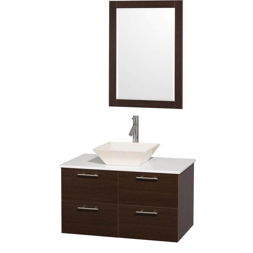 Wyndham Collection Amare 36 In Vanity In Espresso With Man Made
