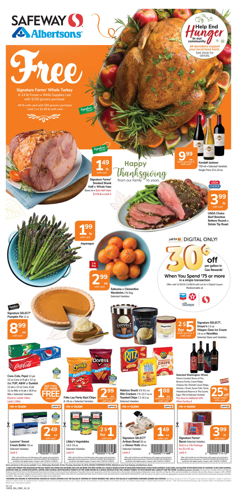 Spend 150 in one day for free turkey Browse the Weekly Ad