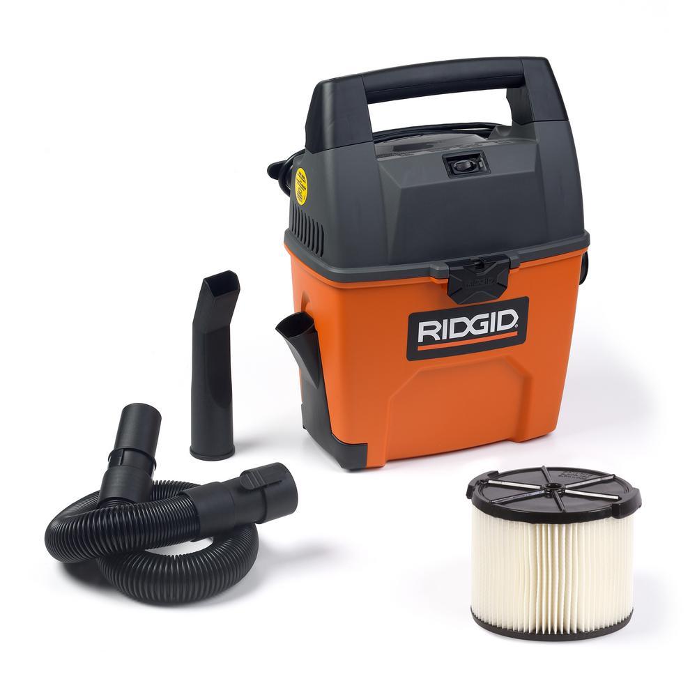 RIDGID 3 Gal. 3.5Peak HP Portable Wet/Dry Shop Vacuum