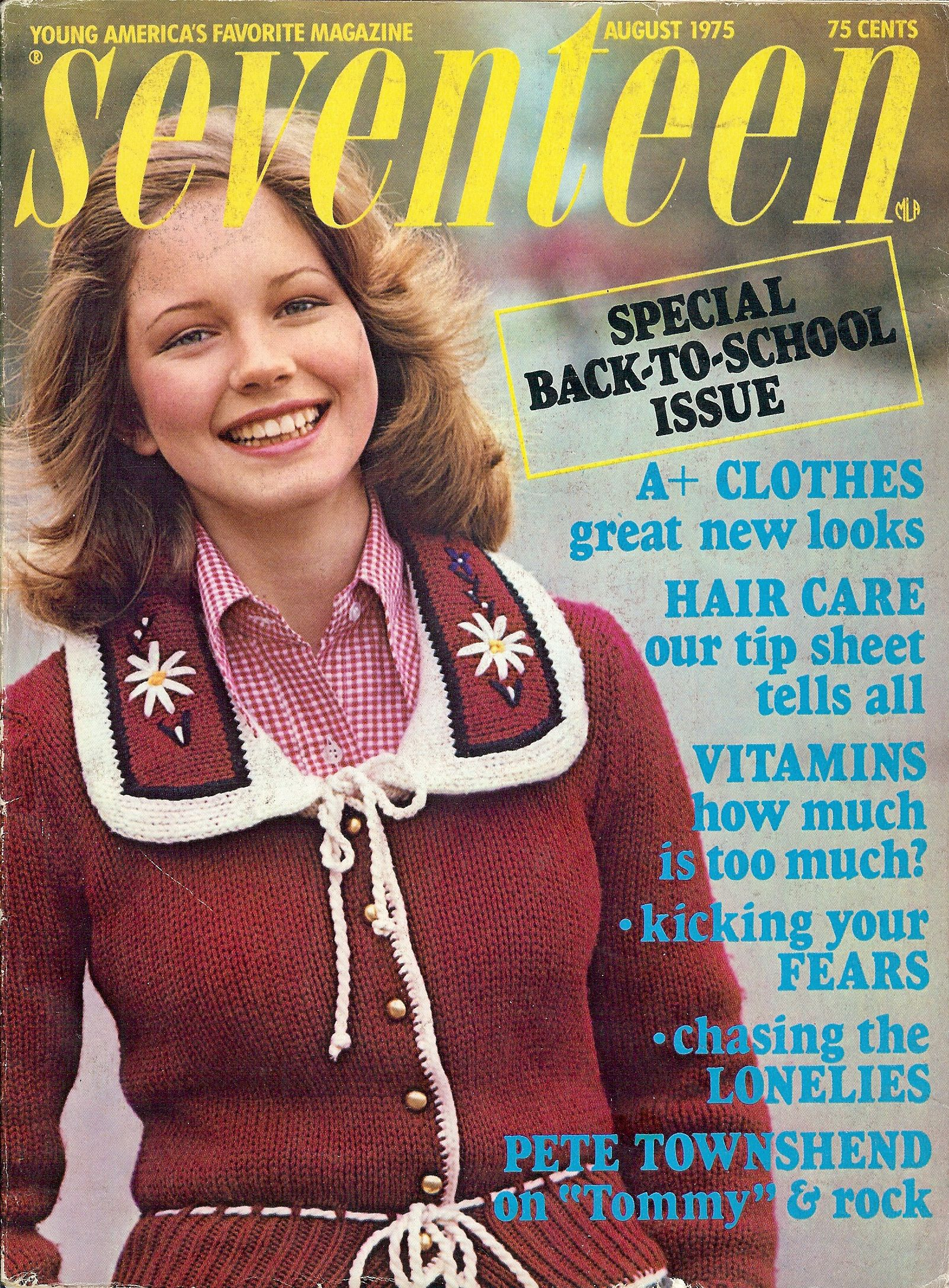 Seventeen Magazine Back-to-School Issue August 1975 Model ...