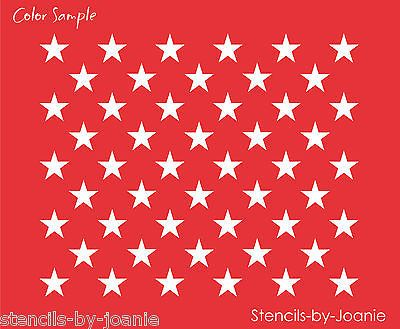 "Patriotic 10/"" Sq 3//4/"" Star American Liberty Flag USA Country Sign Stencil 50"