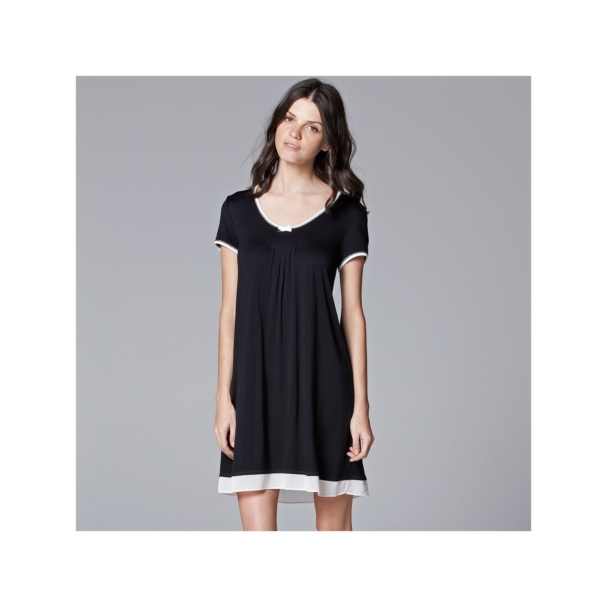 2131d0951 Women s Simply Vera Vera Wang Pajamas  Basic Luxury Sleep Shirt ...