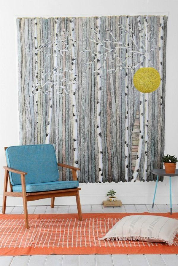 Wandgestaltung mit Farbe wände gestalten natur muster Wände - wandgestalten mit farbe