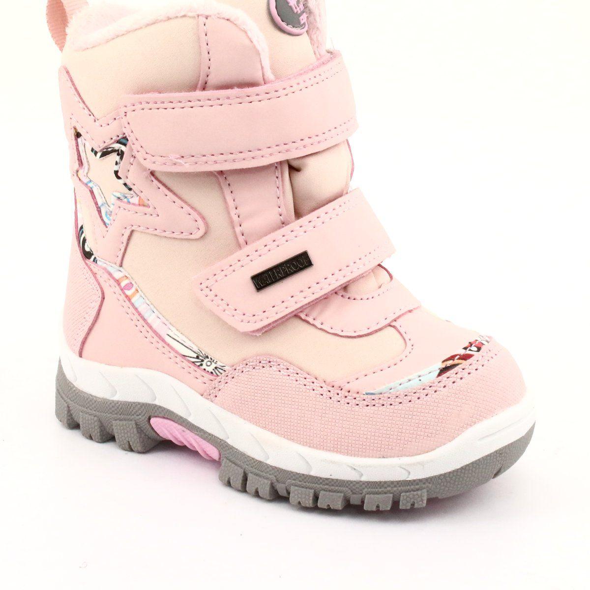 American Club Kozaki Z Membrana Rl37 Gwiazda Rozowe Boots Childrens Boots Girls Shoes