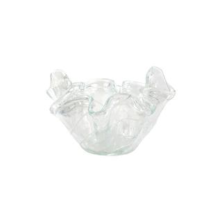 Sophisticated and Stunning Mouthblown Glassware Decoration Vietri Onda Glass Cobalt Star Centerpiece
