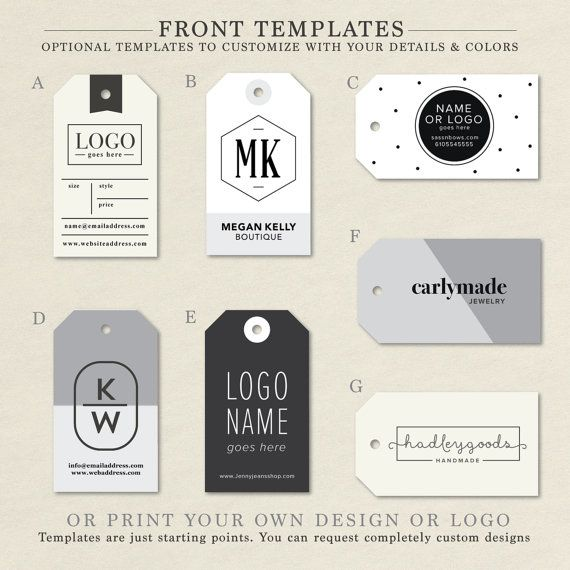 Custom Hang Tags, Custom Clothing Labels, Custom Business Card Tag