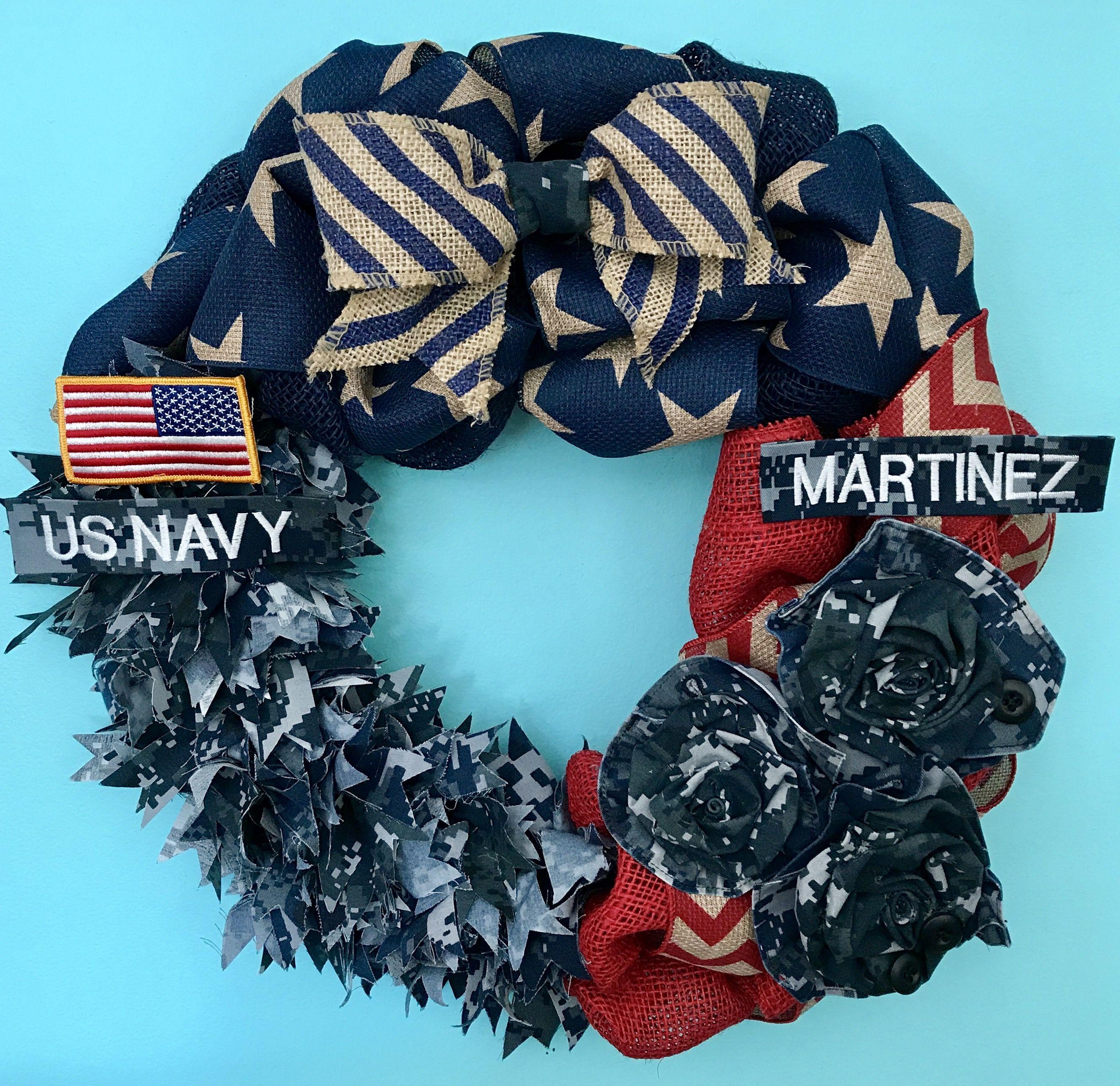 Navy Wreath Us Decor And Custom Military Wreaths At Www