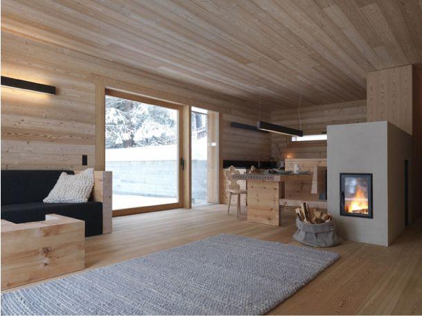 Un moderno rifugio nel cuore delle Dolomiti Interni di