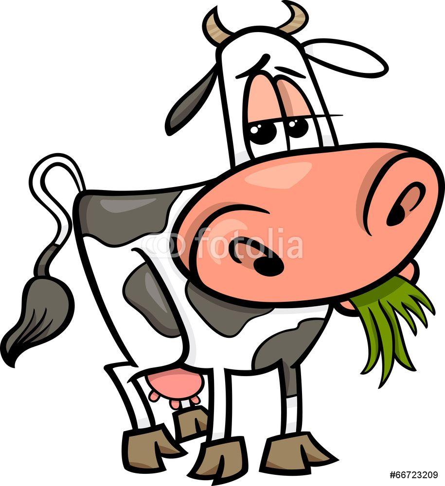 cow farm animal cartoon illustration wall sticker baby