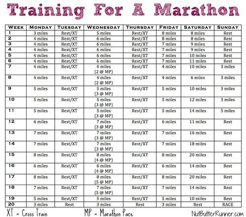 Marathon Training Program Iu0027m considering this program to prep for - training calendar template