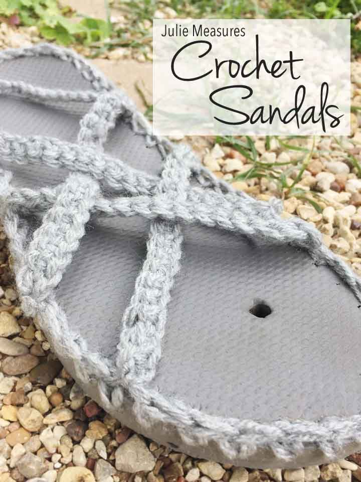 This summer turn your flip flops into Woven Crochet Sandals! Free ...