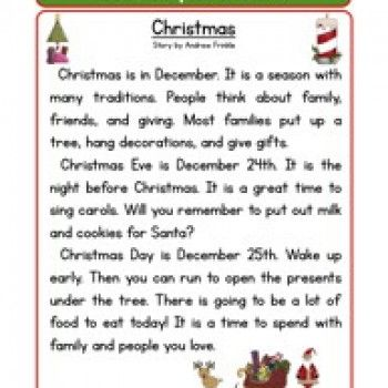 second grade reading comprehension worksheet holiday stories christmas reading. Black Bedroom Furniture Sets. Home Design Ideas