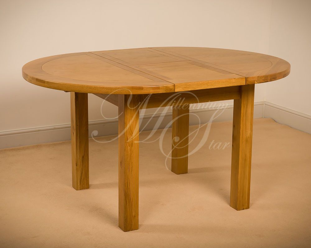 Msl Solid Wood Chunky Oak Round Extending Dining Table Ebay Wooden Garden Benches Scaffa Berlin Scaffolding Planks