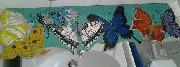 Habe unser Bad etwas creativ verschönert.