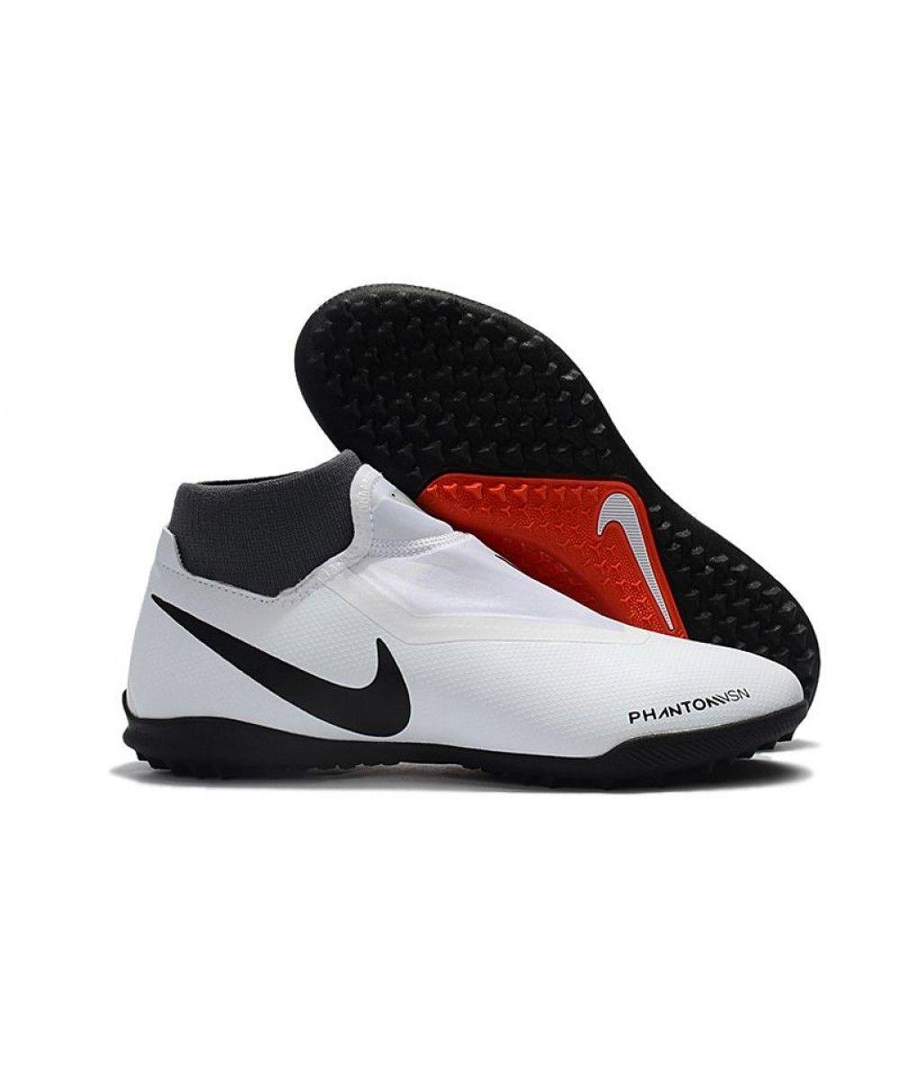 93152a477ca61 Fußballschuhe Nike Phantom Vision Academy DF TF - Pure  Platinum Schwarz Rot Dunkelgrau