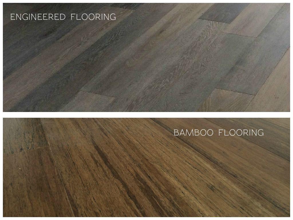 An image comparing Engineered Timber Flooring versus