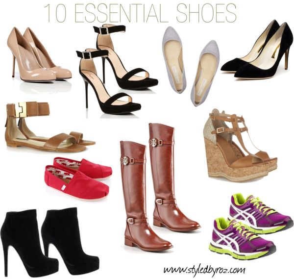 {the basics} 10 ESSENTIAL SHOES every woman should have in her closet. www