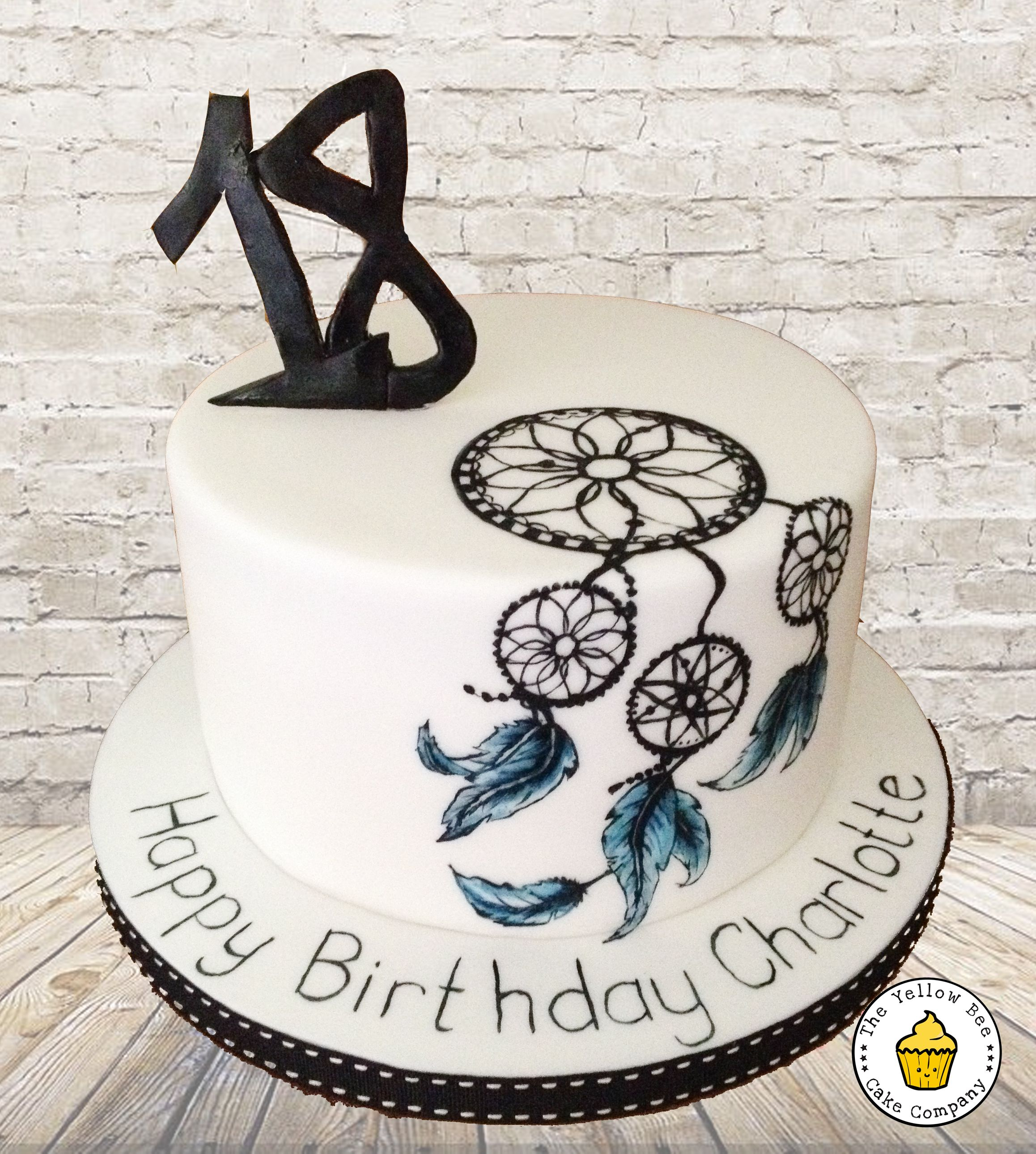 Dreamcatcher Inspired 18th Birthday Cake A Simple White Cake