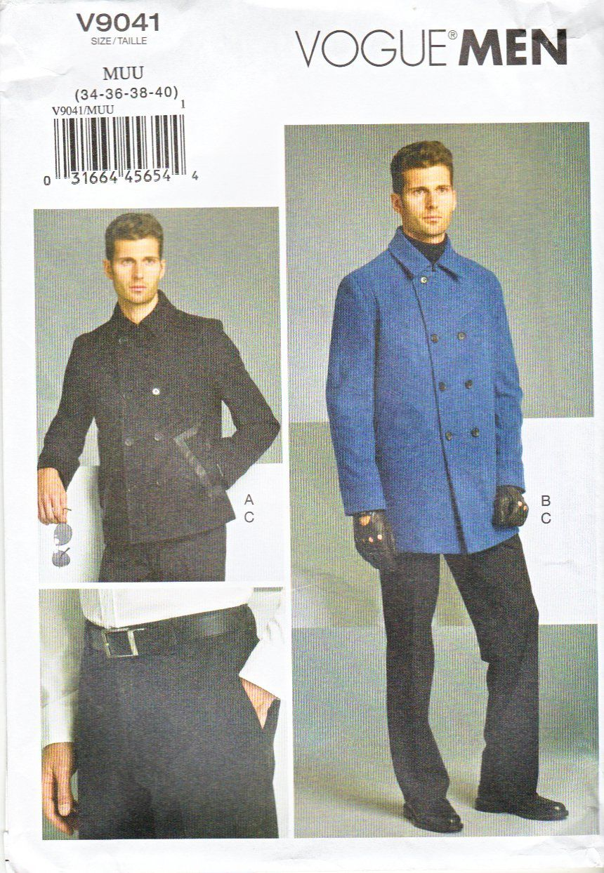 Vogue Sewing Pattern 9041 Men\'s Chest Size 34-40\