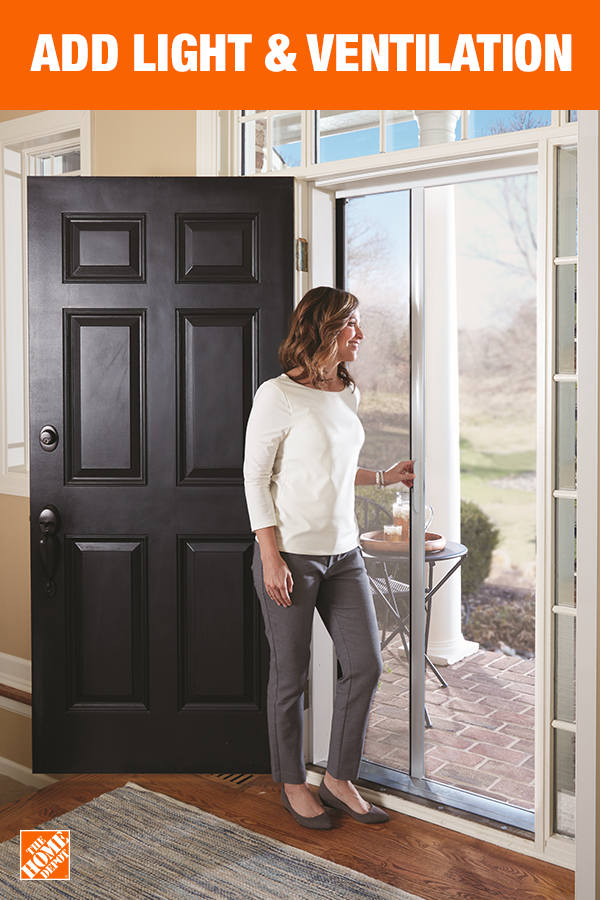 Enhance Your View To The Outside With Andersen Luminaire Retractable Screen Door Available Exclusively At Home Depot