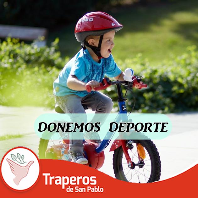 Cualquier donativo puede ser una iniciativa en los niños para hacer deporte. Por ello unamos esfuerzos, compartiendo lo que ya no usas... #TraperosDona #TraperosRecicla Contáctenos : (01)258-5262  943 520 010 http://traperosdesanpablo.org/que-donar