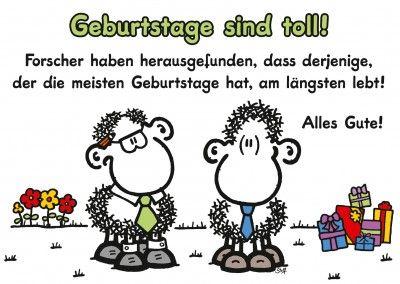 Sheepworld Geburtstags Postkarten Motiv 2 Schafe Sprueche Mit