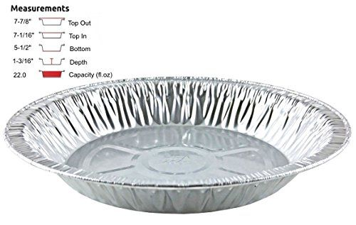 Handifoil 8 Extradeep Aluminum Foil Pie Pan Disposable Tin Plates