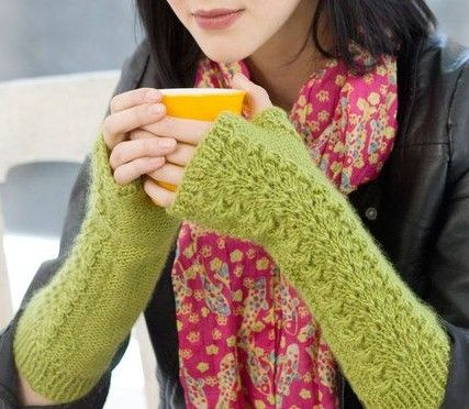 Free Knitting Pattern For Lettuce Lace Wristwarmers And More