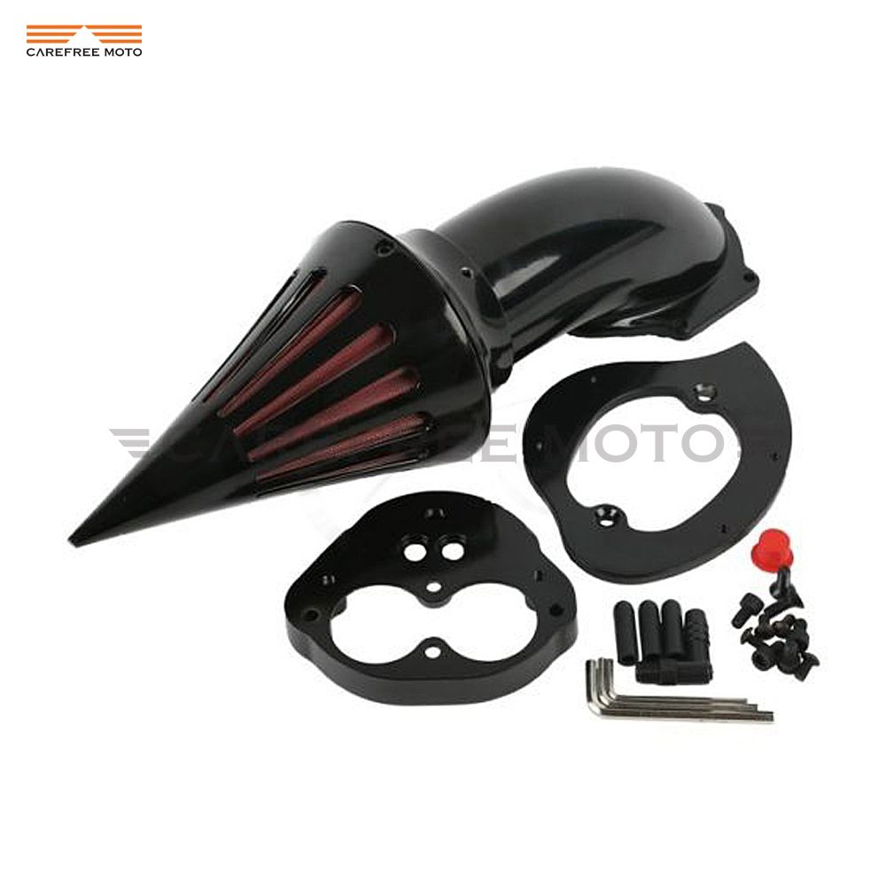 Black Motorcycle Air Cleaner Kits intake filter case for Kawasaki