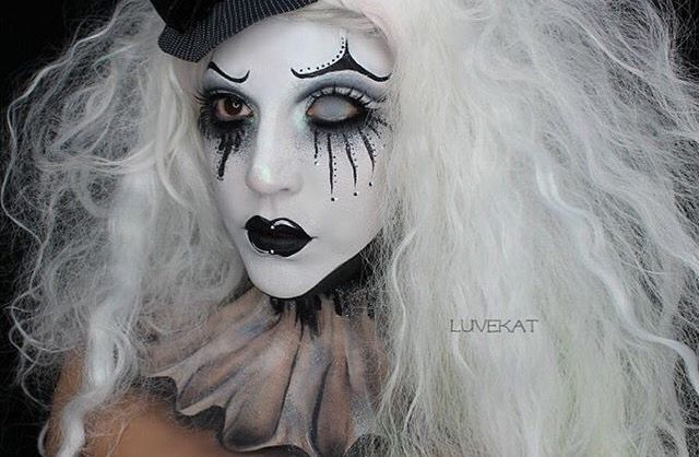 Black And White Clown Makeup Creepy Clown Makeup Black And White Clown Clown Makeup