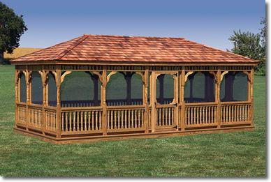 Amish Gazebo Shop 12 X 24 Wooden Gazebo In 2019 Wooden