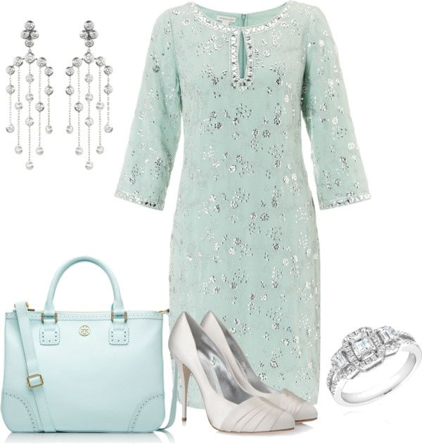 Dress, shoes, jewelry, purse