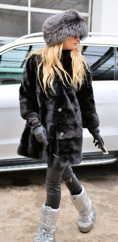 NEW MILANO BLACK ROYAL SAGA MINK FUR COAT CLASS CHINCHILLA FOX JACKET SABLE VEST