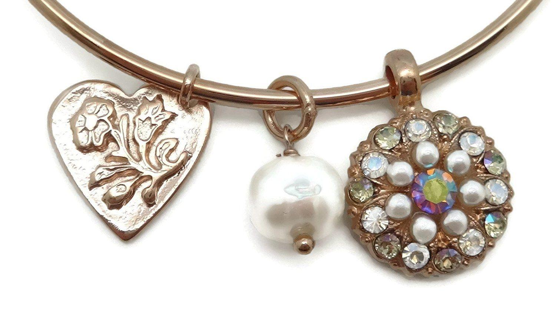 Mariana swarovski crystal rose gold plated bracelet crystal ab