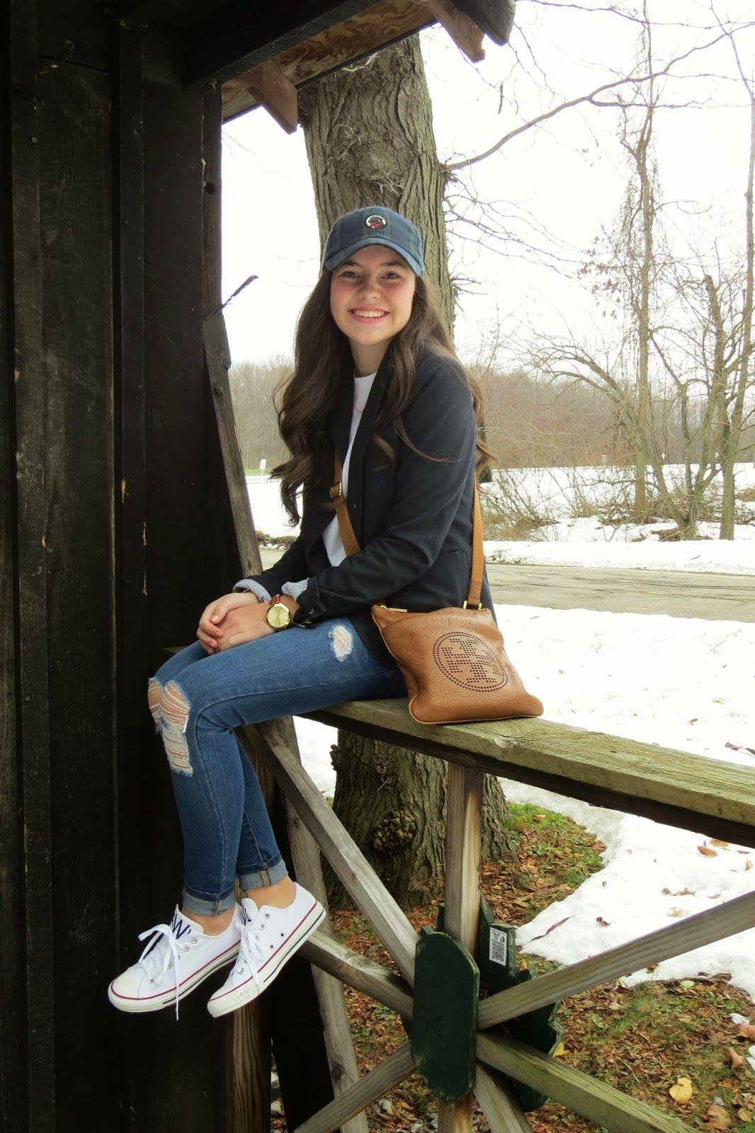 Barefoot Style Blazer Blue Jeans Cap Converse