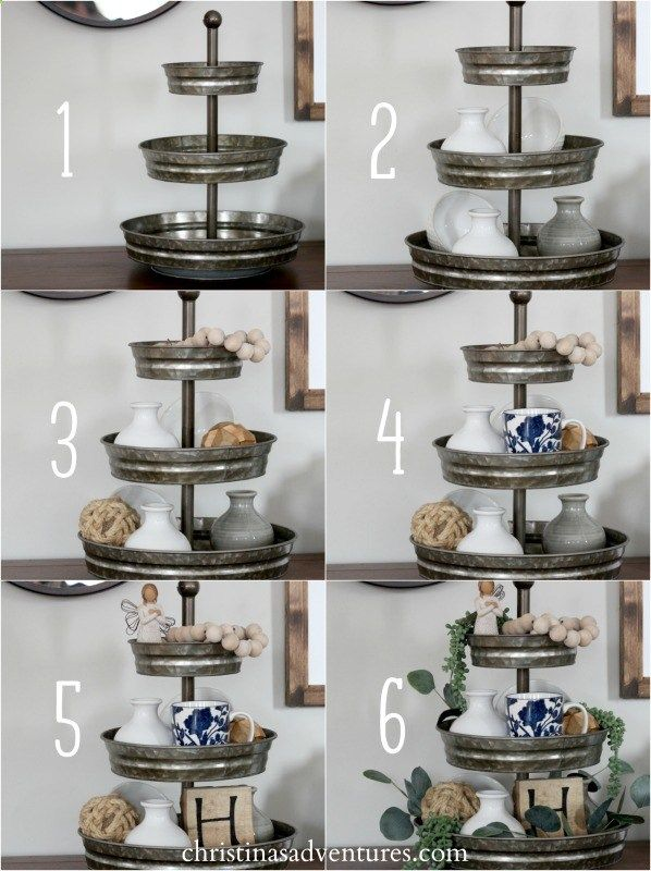 Step By Step Tutorial For How To Style A Tiered Tray Hobbylobbystyle Nationaldecoratingmonth Ad Hobby Lobby Tray Decor Tiered Tray Decor Kitchen Decor