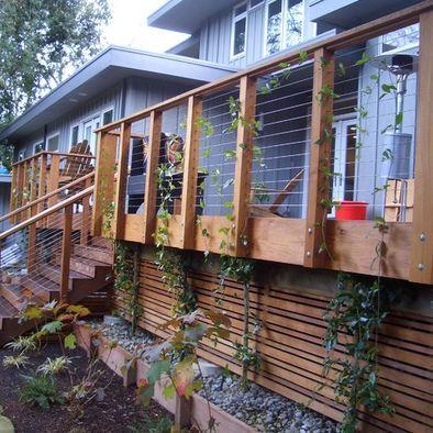 Under Deck Design Planters Around The