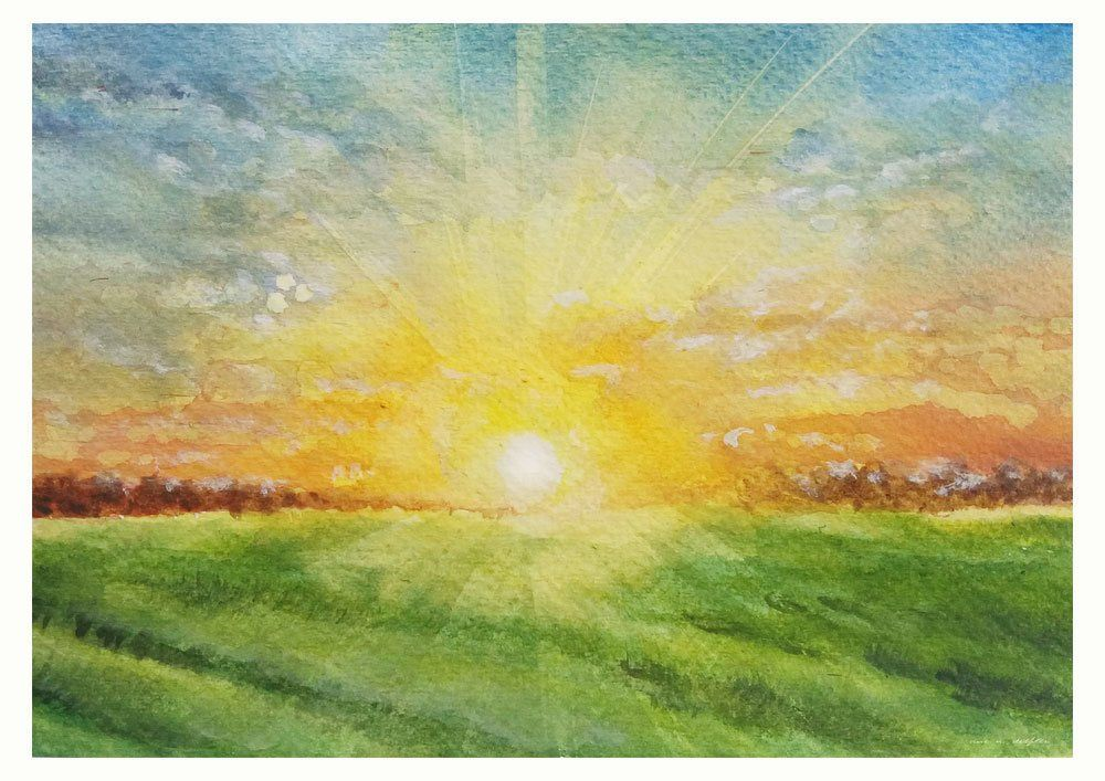Sunrise On The Field Giclee Print Of Original Landscape