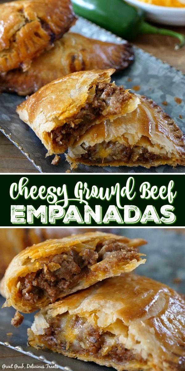 Cheesy Ground Beef Empanadas - Great Grub, Delicious Treats